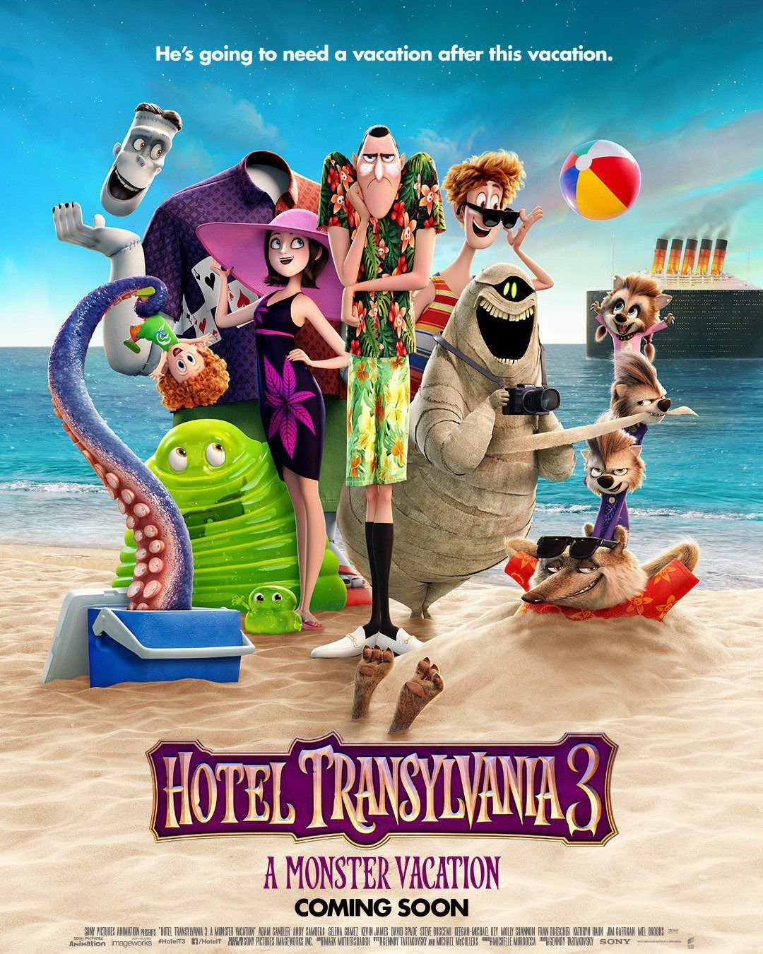 Hotel Transylvania 3 Summer Vacation - poster 2018