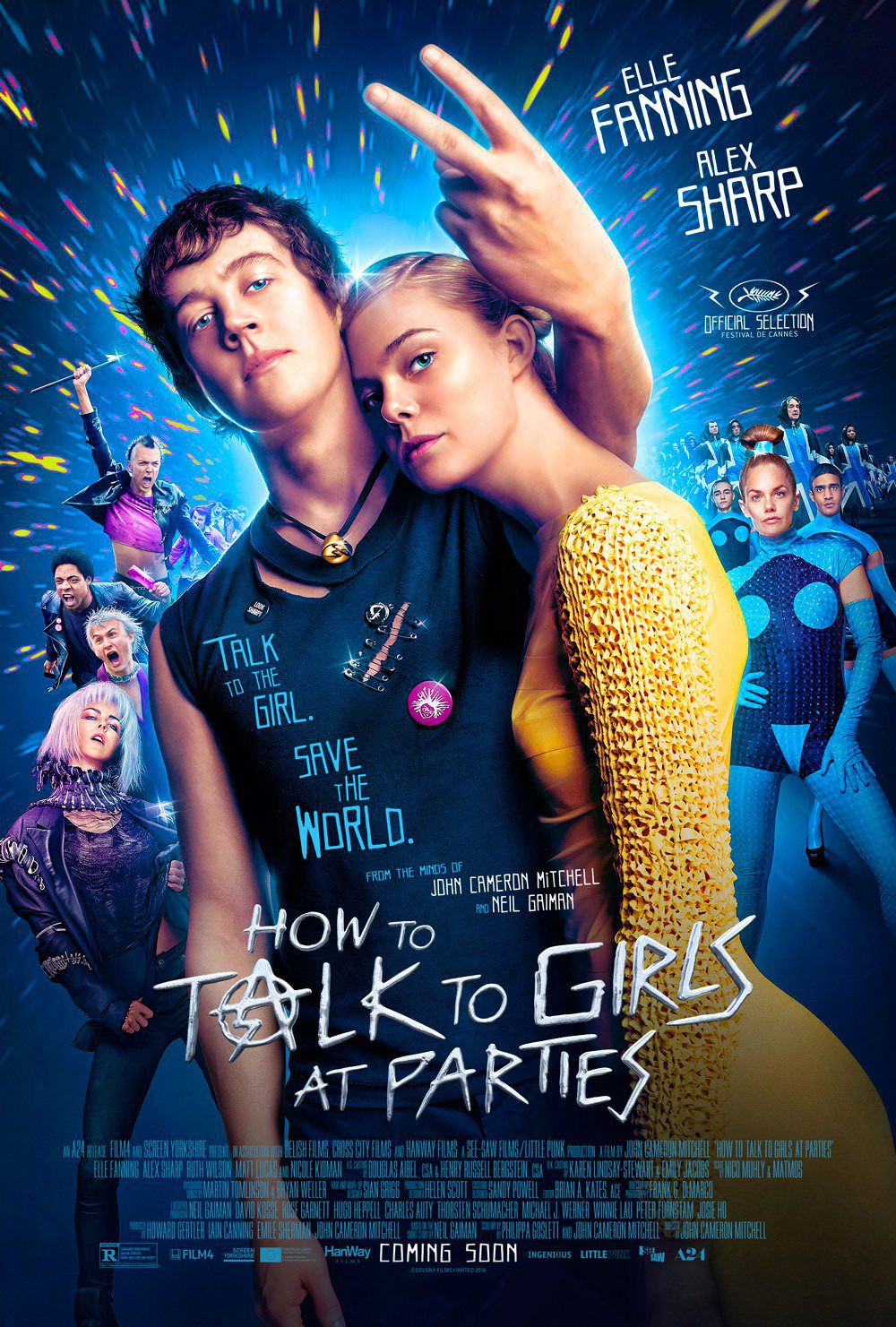 How to Talk to Girls at Parties - Come parlare alle Ragazze alle Feste -  talk to the girl, save the World - Cast: Elle Fanning, Nicole Kidman, Ruth Wilson, Matt Lucas - film poster