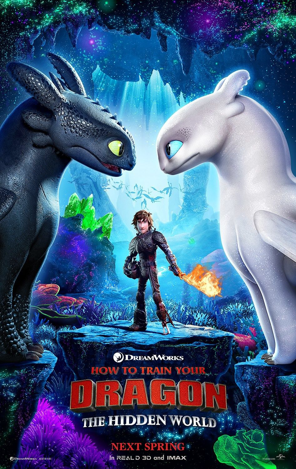 Dragon Trainer 3 - How to Train Your Dragon the Hidden World (2019) - animated film poster