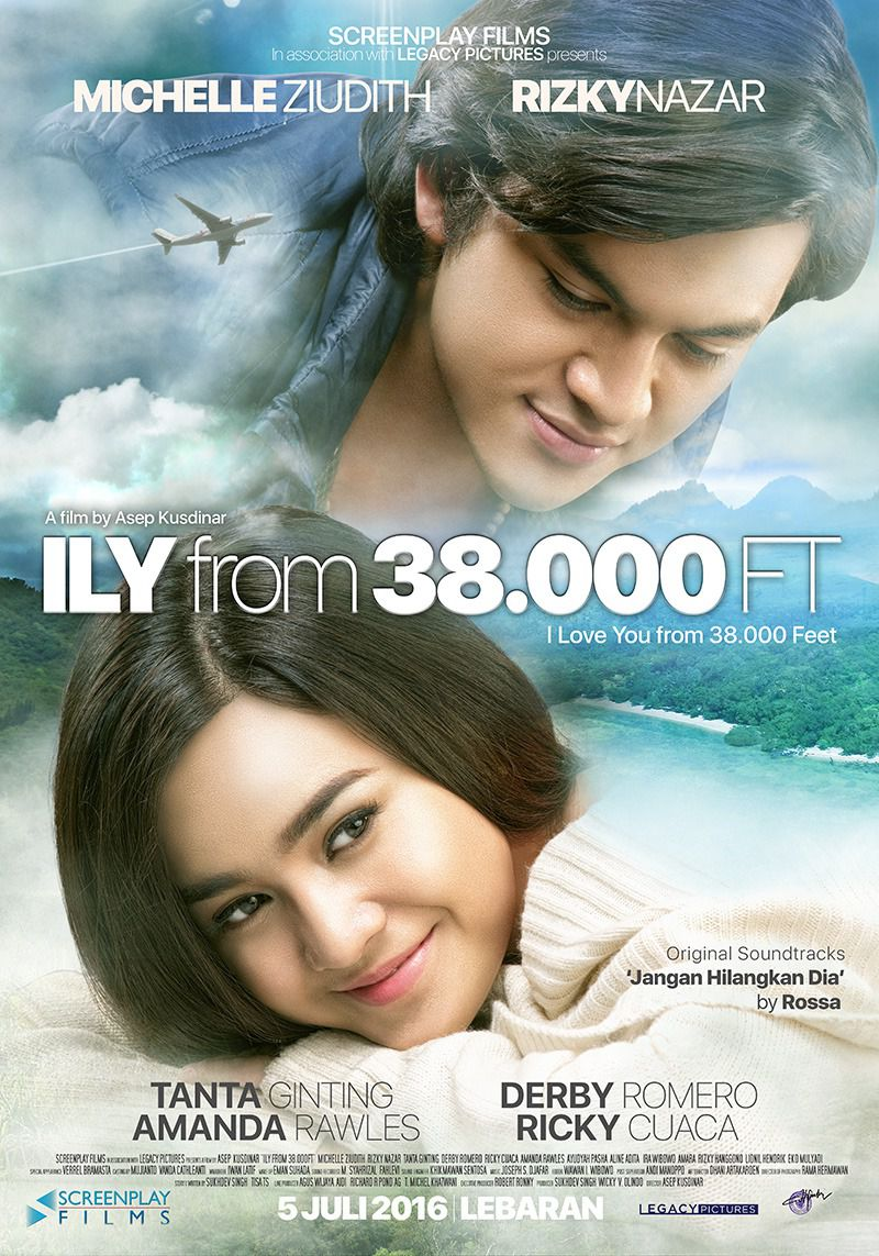 I Love You from 38000 Feet - ILY - Cast: Michelle Ziudith, Rizky Nazar - film poster