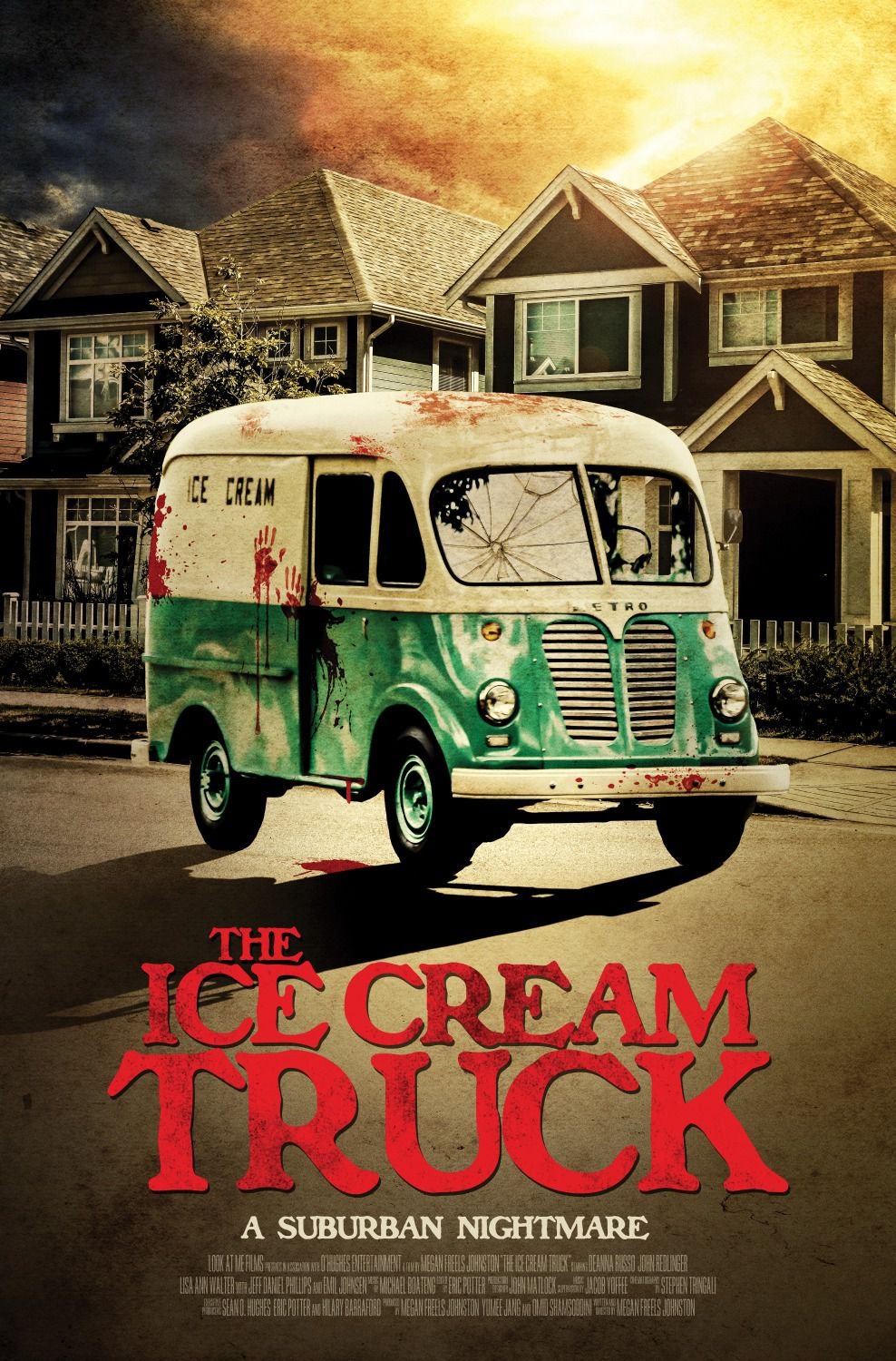 Ice Cream Truck - suburban nightmare - horror poster