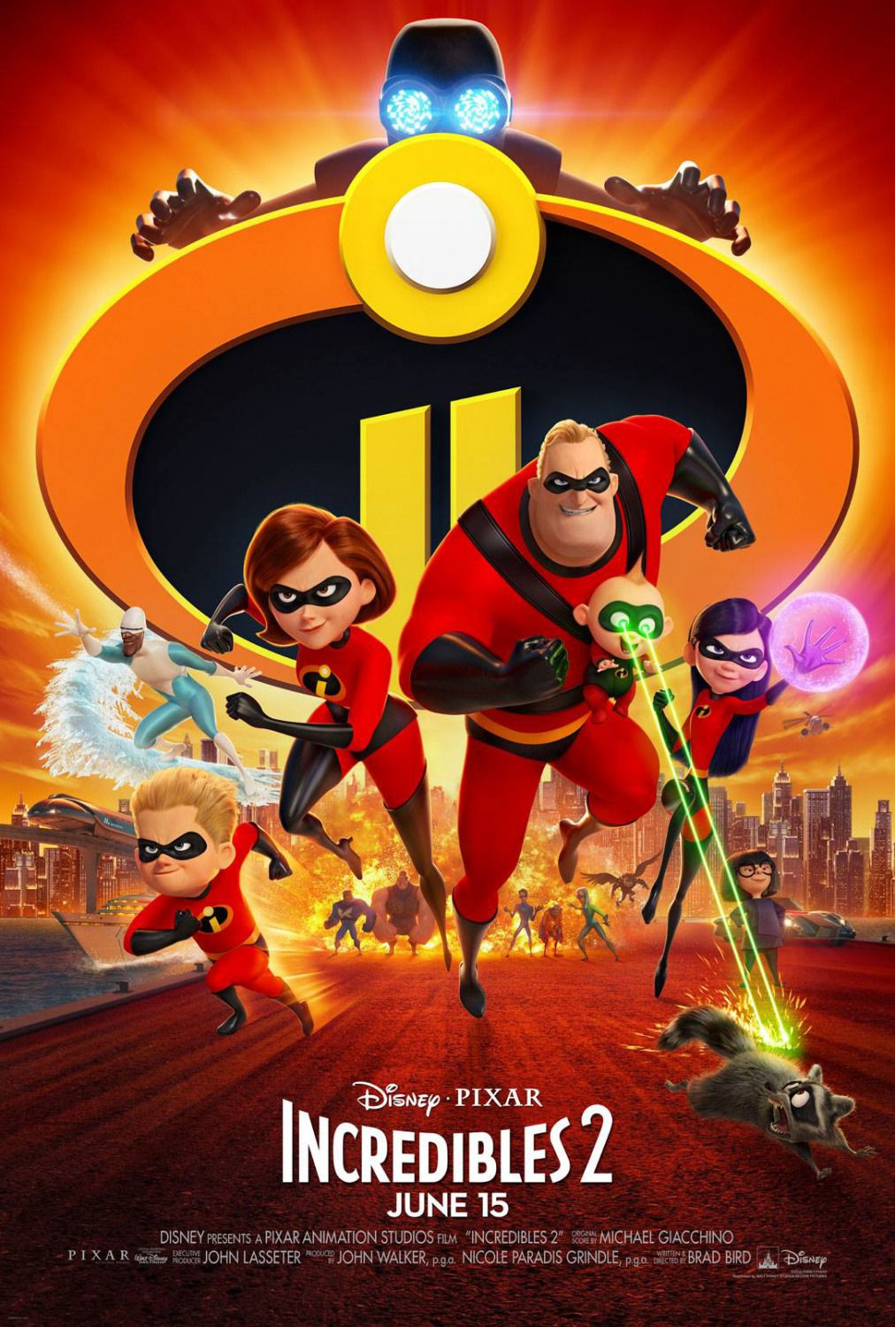 Incredibles 2 - poster 2018 super