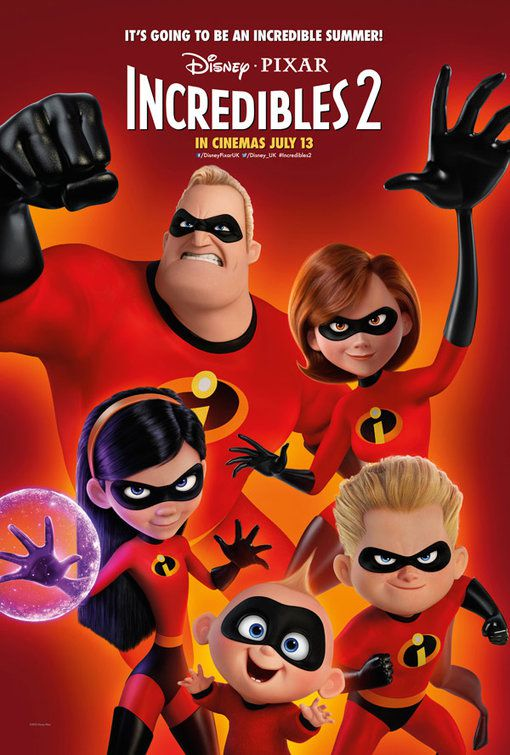 Incredibles 2 - Incredibili - Disney Pixar animated film poster - Family