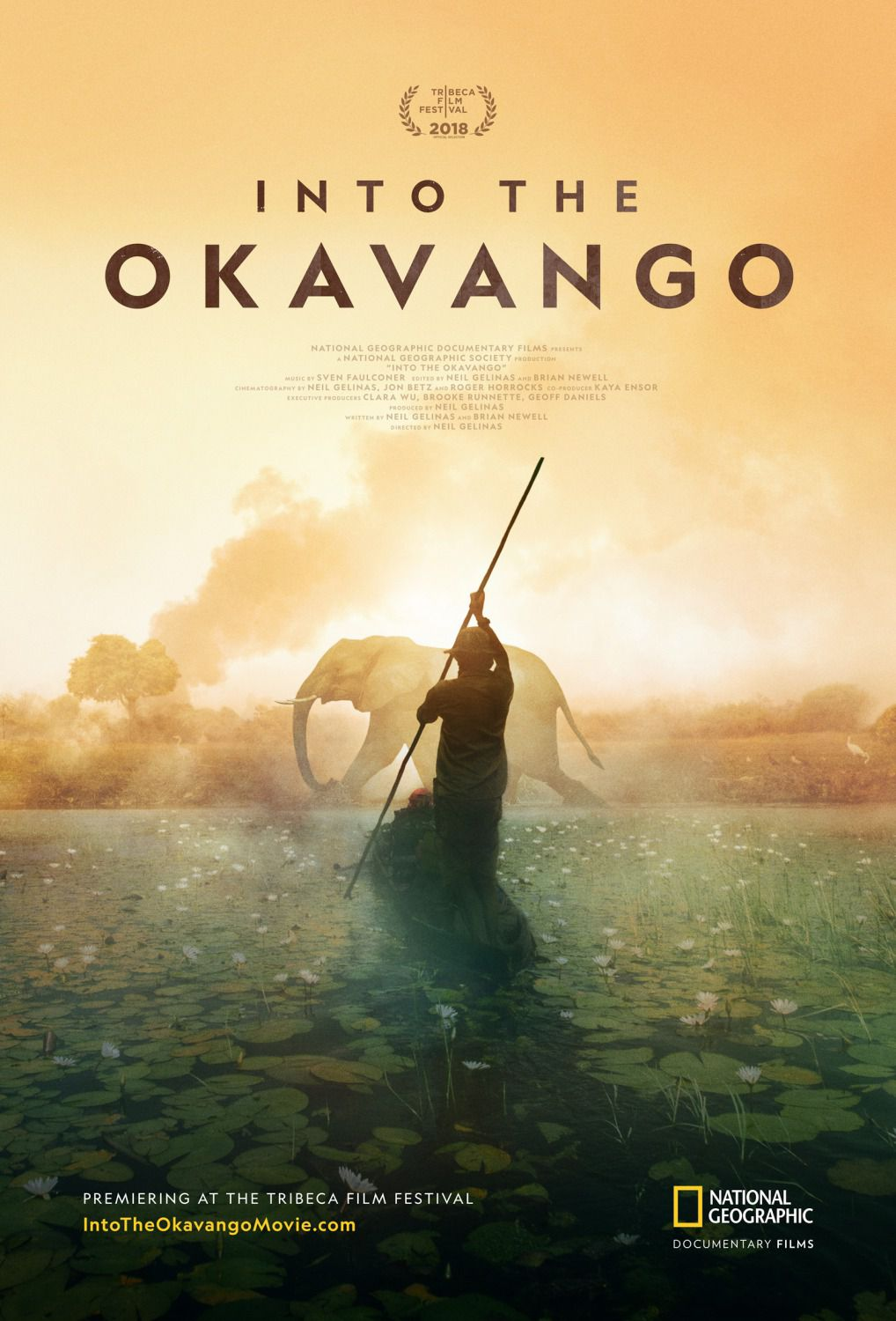 Into the Okavango - film poster 2018 savana elephant