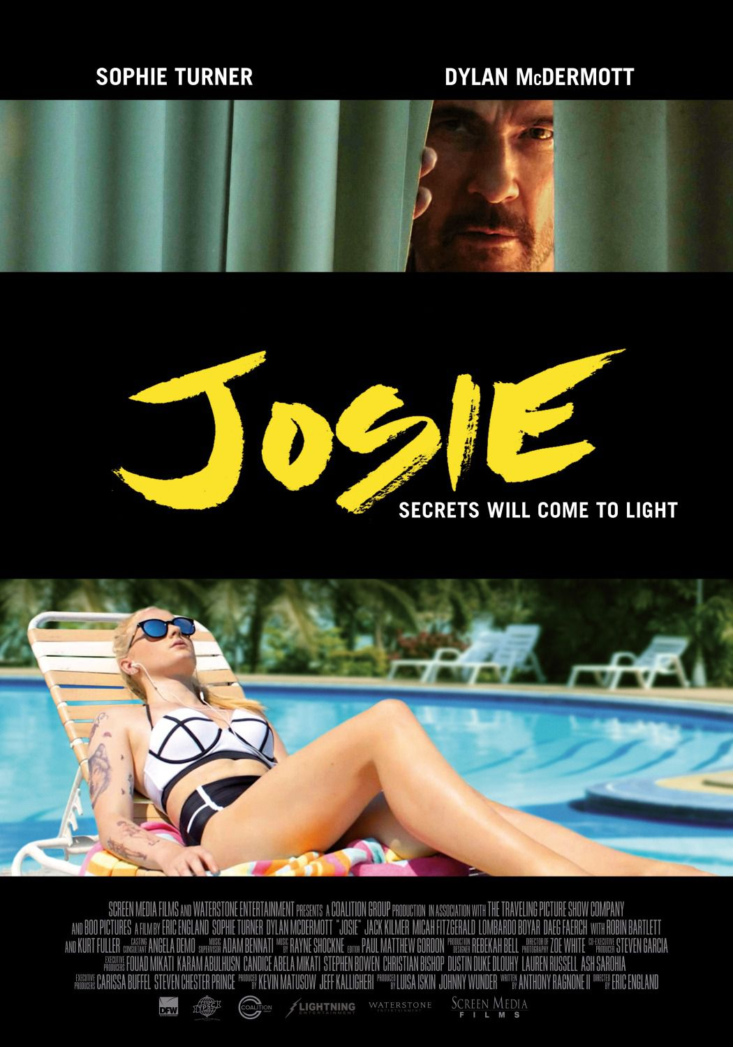 Josie - Huntsville - Secrets will come to light - Sophie Turner, Dylan McDermott, Jack Kilmer, Daeg Faerch - poster 2018