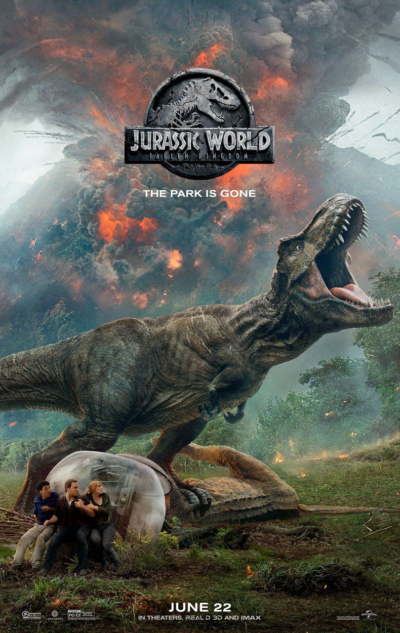 Jurassic World Fallen Kingdom - scifi film poster