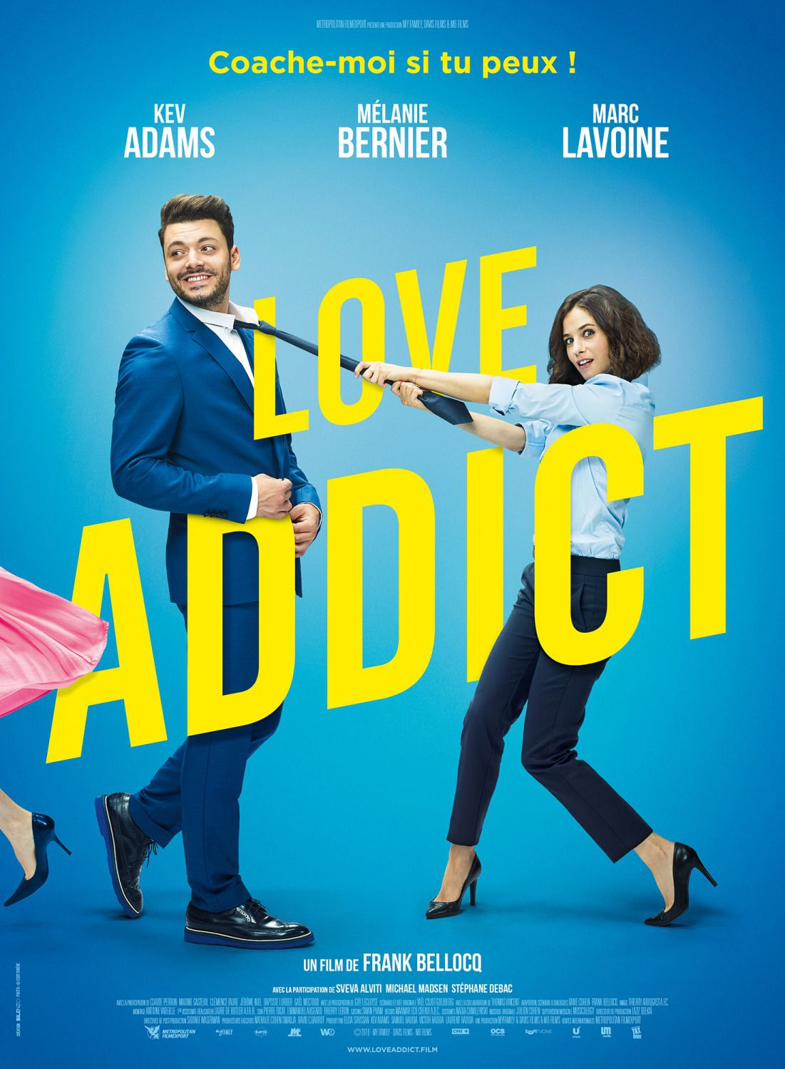 Love Addict - Cast: Kev Adams, Melanie Bernier, Marc Lavoine - comedy film poster