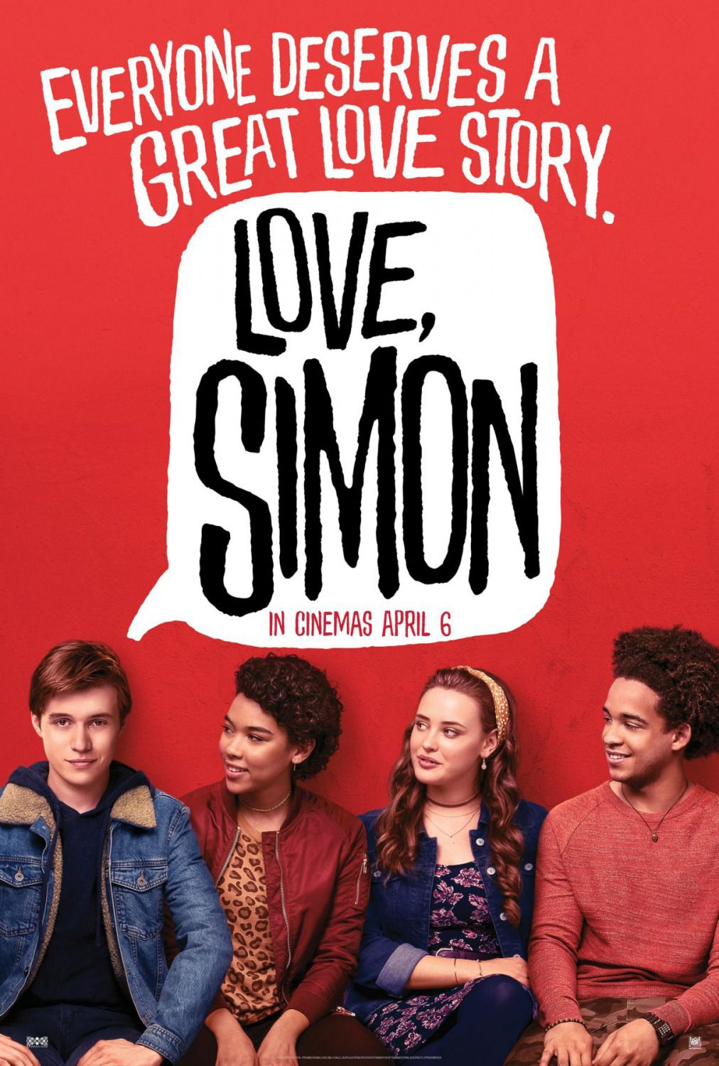 Love Simon by Greg Berlanti - Nick Robinson - film poster 2018