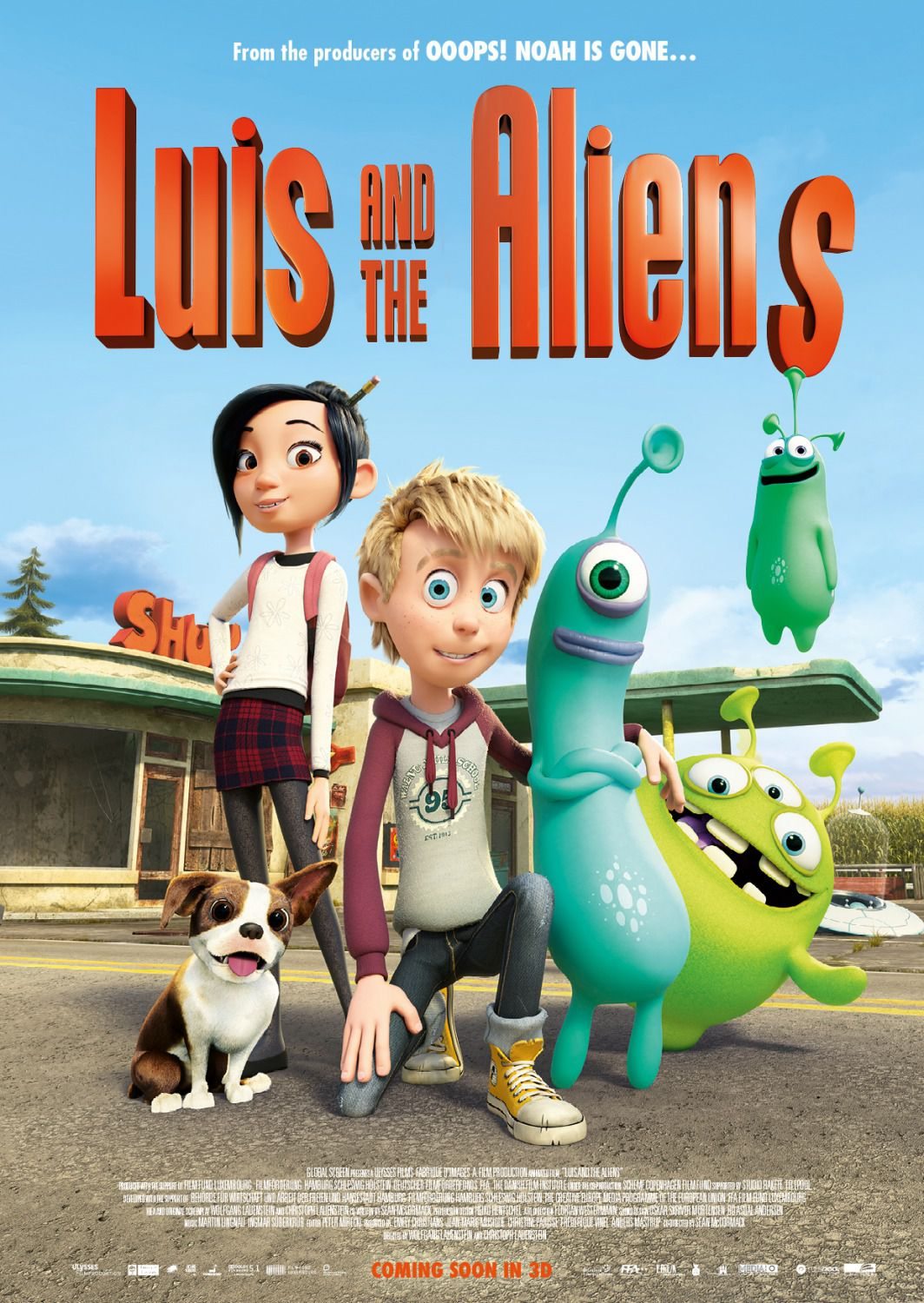 Luis and the Aliens - scifi animated cartoon film poster