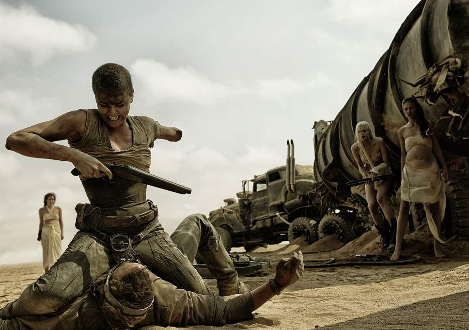Mad Max Fury Road 2015 Science Fiction Movie scene fight