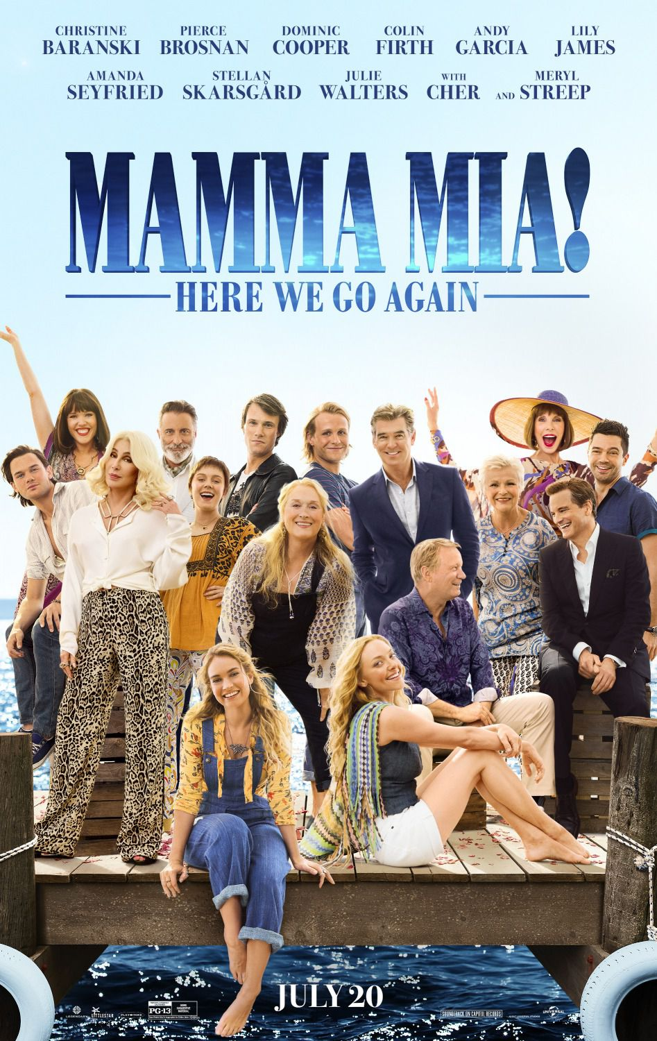 Mamma Mia 2 - here we go again 2018 - Meryl Streep, Lily James, Amanda Seyfried, Pierce Brosnan - film poster