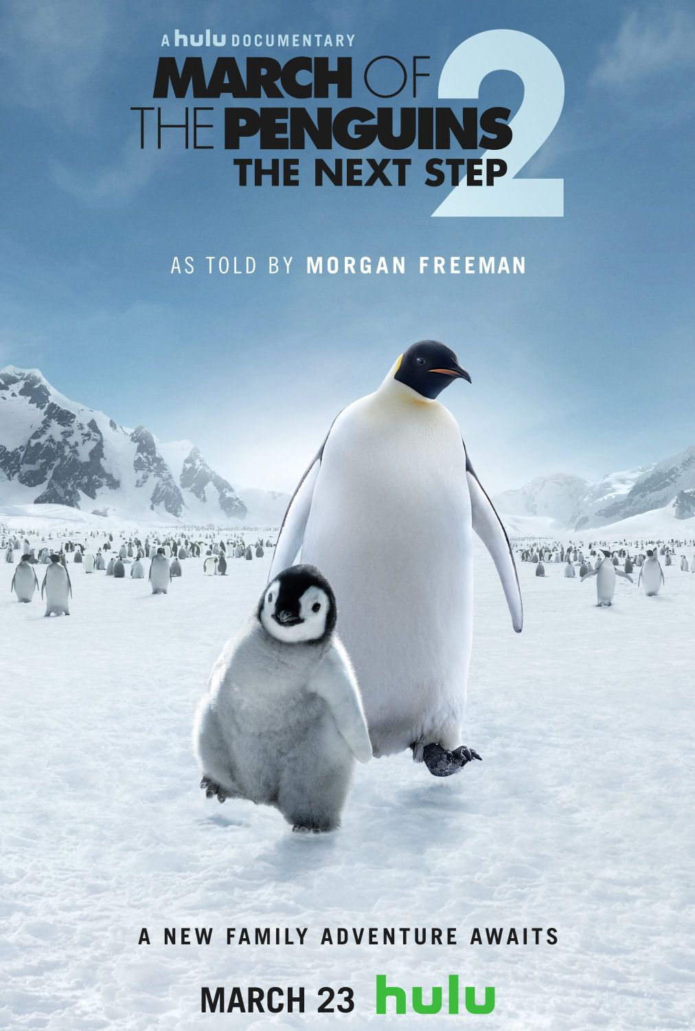 March of the Penguins 2 the next step - Lempereur - Docu Film Poster by Morgan Freeman - film poster