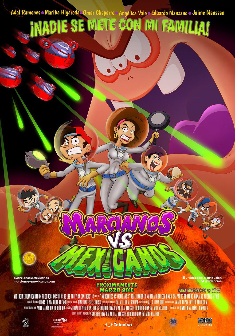 Marcianos vs Mexicanos - animated film poster 2018