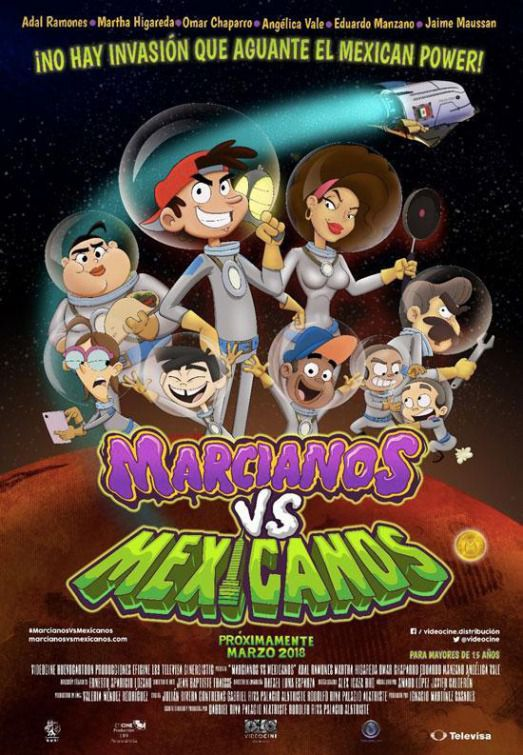 Marcianos vs Mexicanos - cartoon film poster