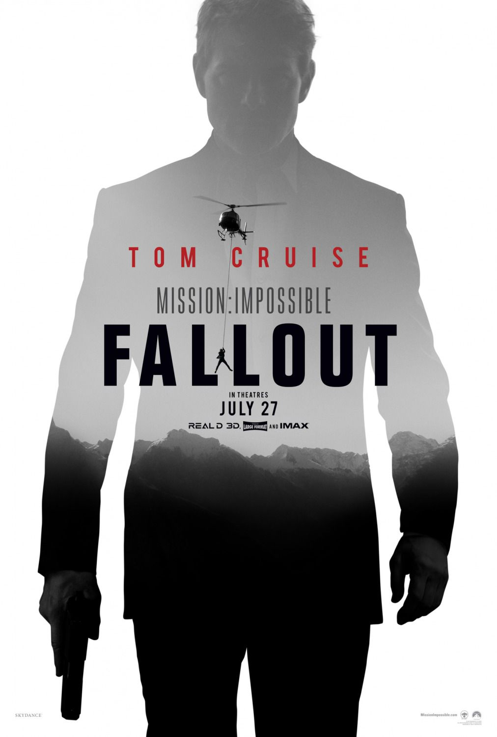 Mission Impossible Fallout - film poster 2018 Tom Cruise
