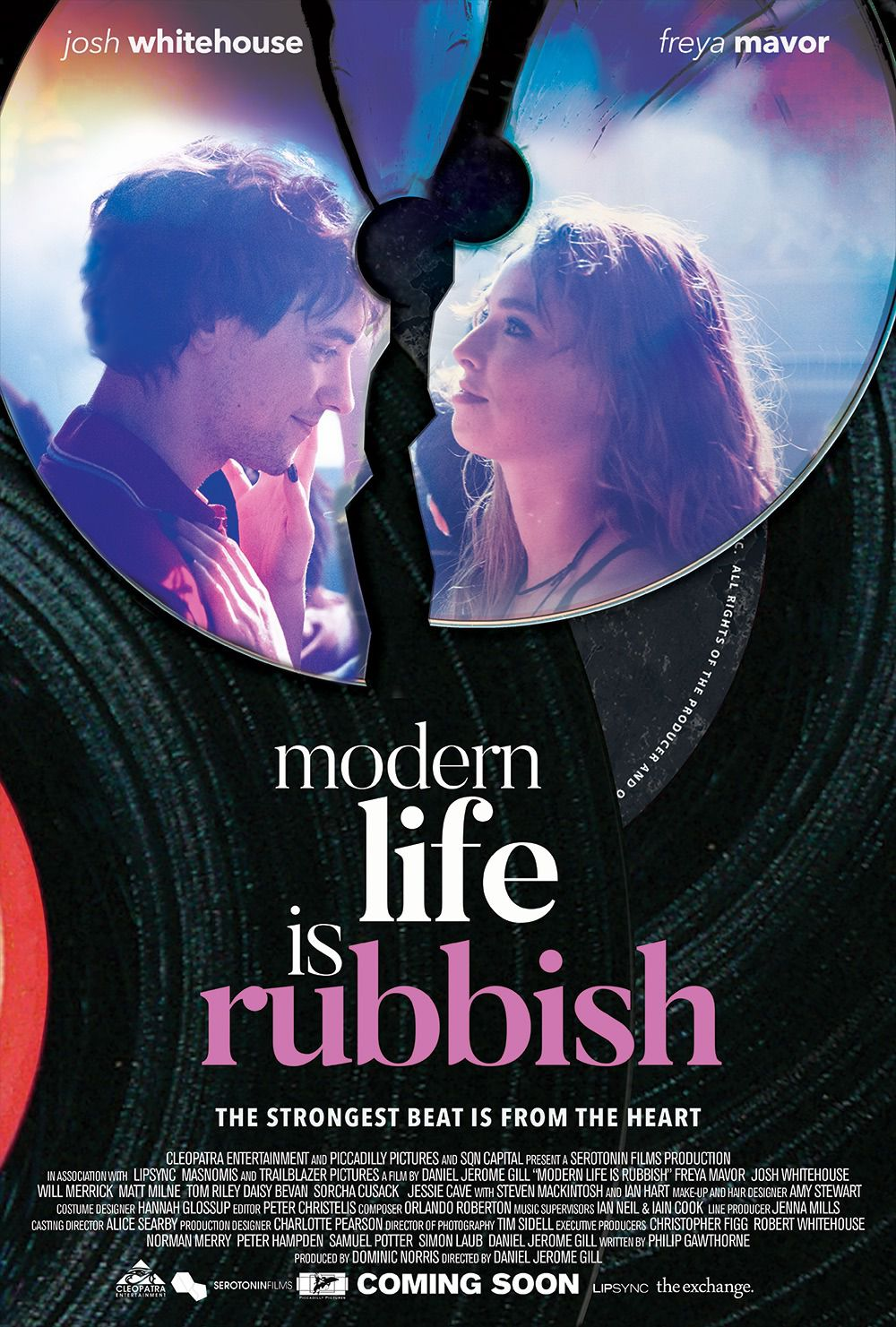 Modern Life is Rubbish - The strongest beat is from the heart - Cast: Josh Whitehouse, Freya Mavor - love poster
