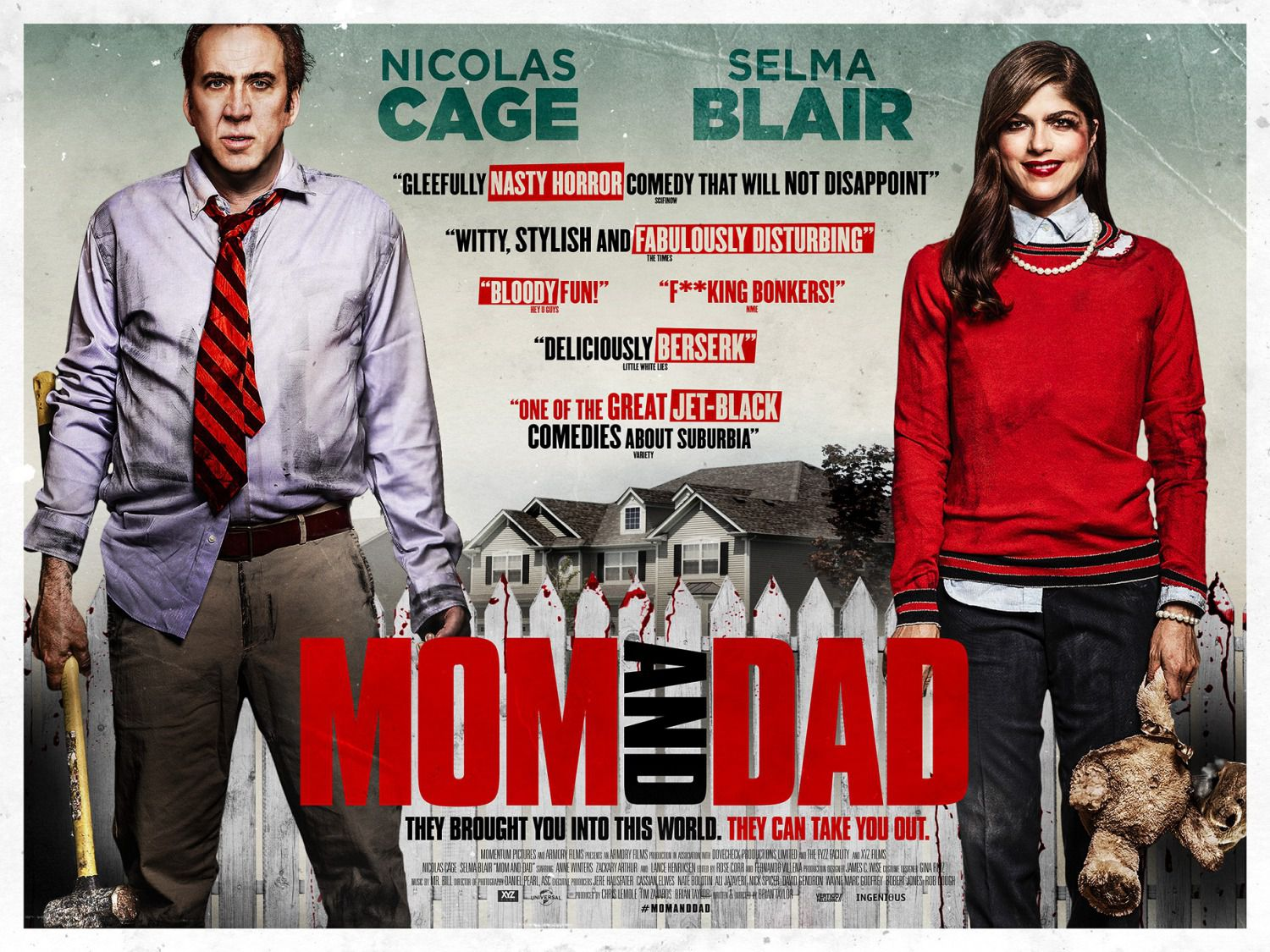 Mom and Dad - Nicolas Cage, Selma Blair, Anne Winters - scary film poster