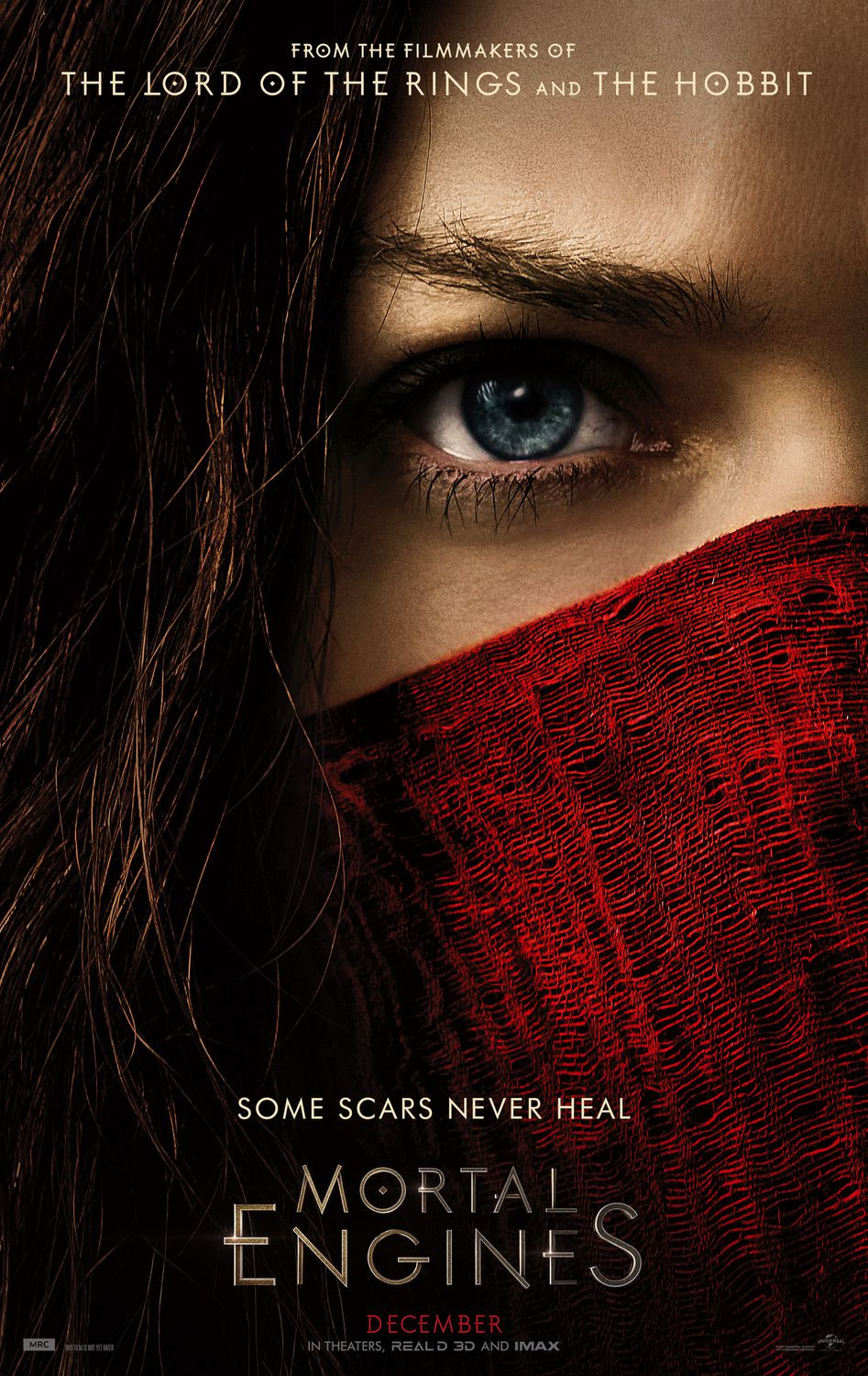 Mortal Engines 2018 Robert Sheehan, Hera Hilmar, Ronan Raftery, Stephen Lang - fantasy film poster