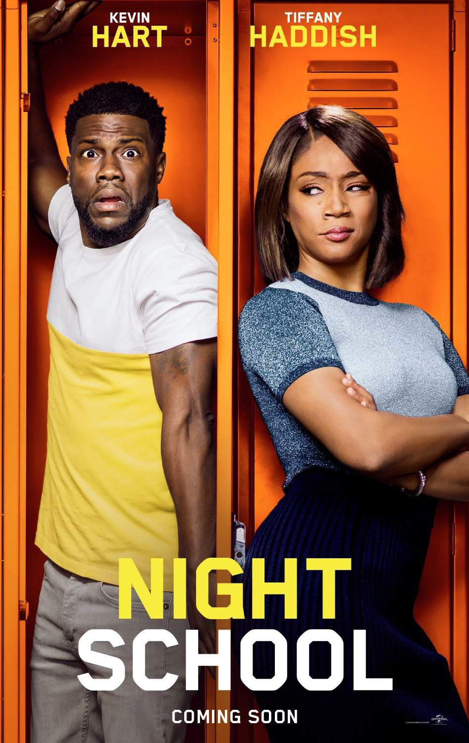 Night School - Cast: Kevin Hart, Tiffany Haddish - comedy film poster 2018