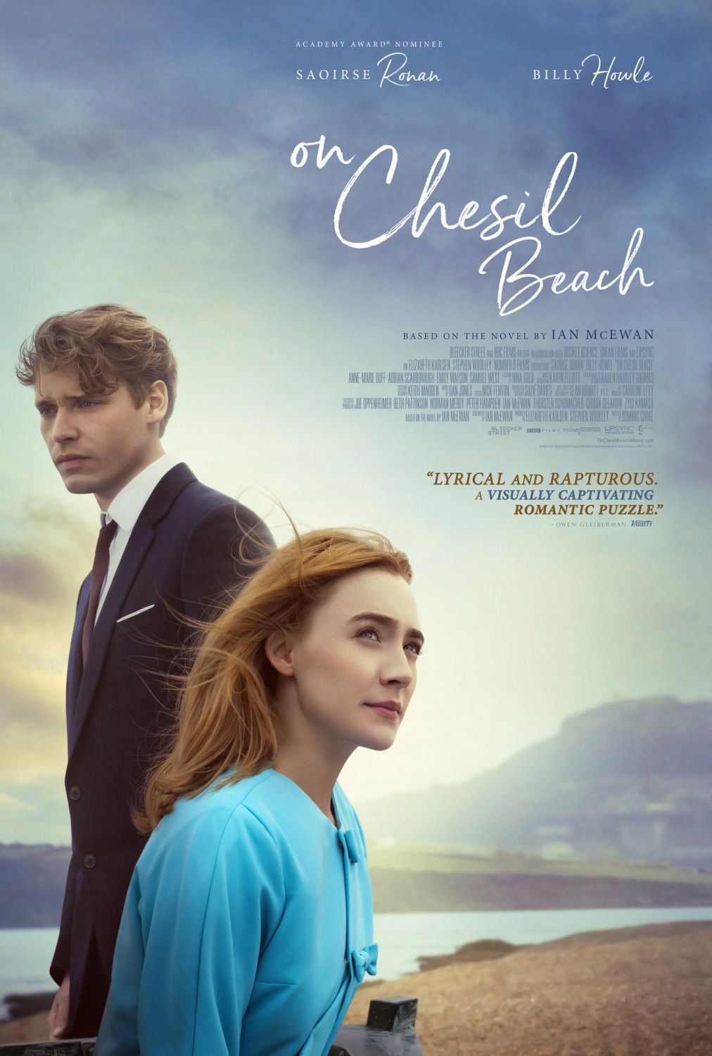 On Chesil Beach - Cast: Saoirse Ronan, Billy Howle - film poster 2018