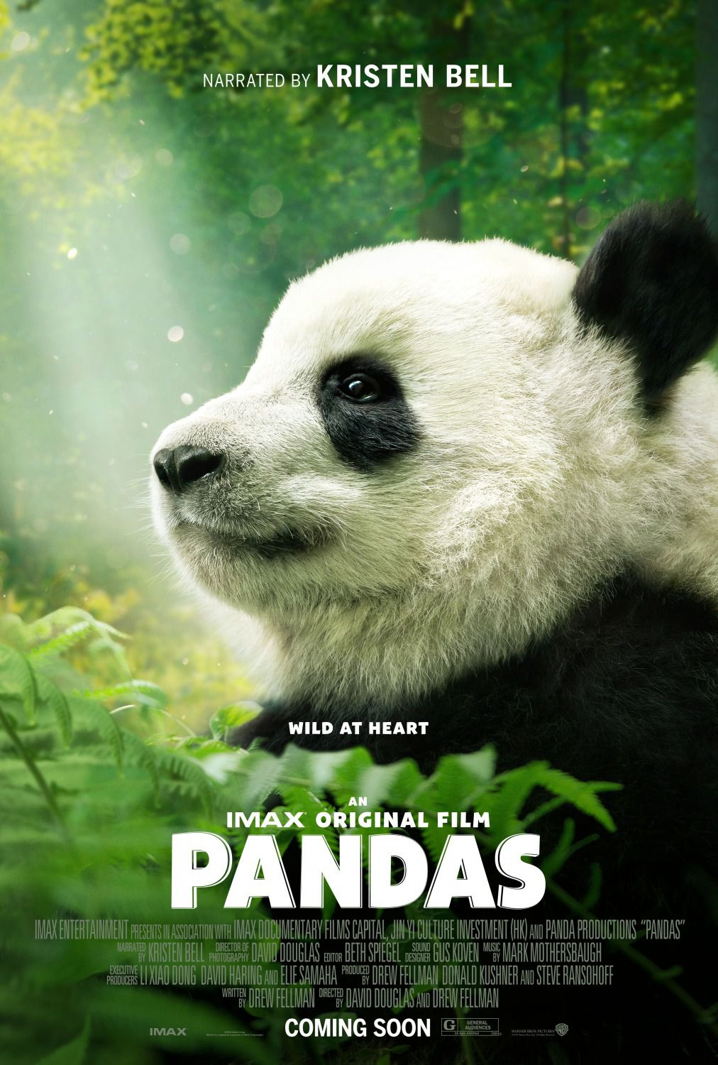 Pandas - Wild at Heart - Special Cutie Docu Film narrated by Kristen Bell - poster 2018