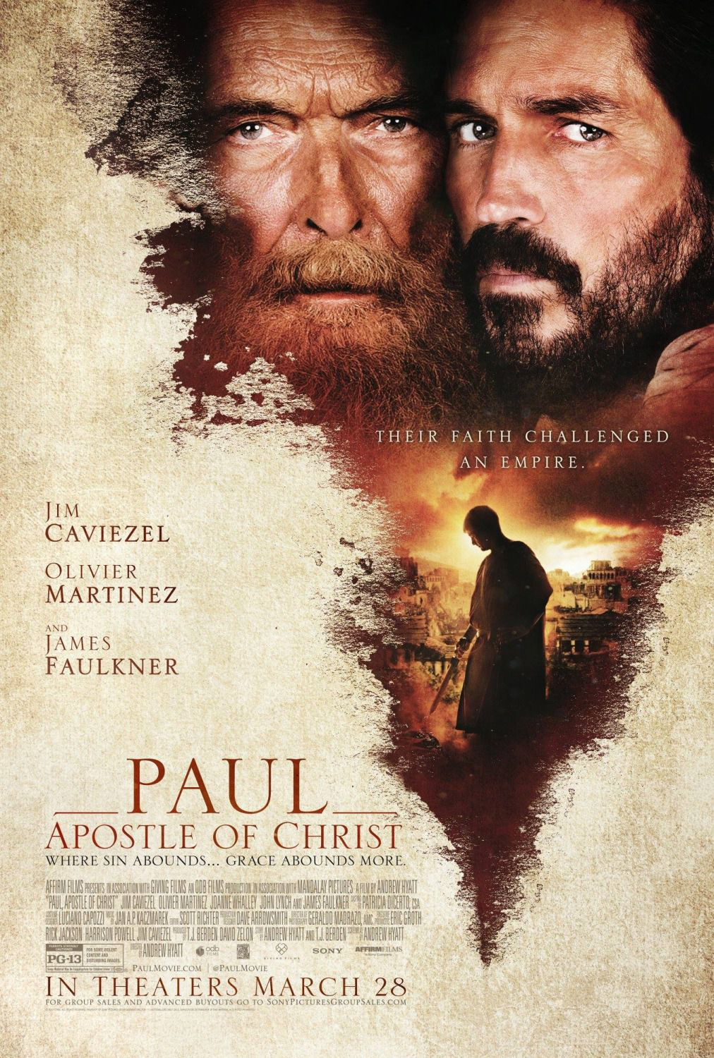 Paul Apostle of Christ - film poster 2018 - Apostolo Paolo