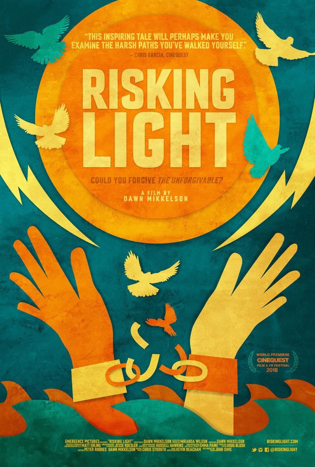 Risking Light by Dawn Mikkelson - Could you forgive the unforgivable - film poster 2018