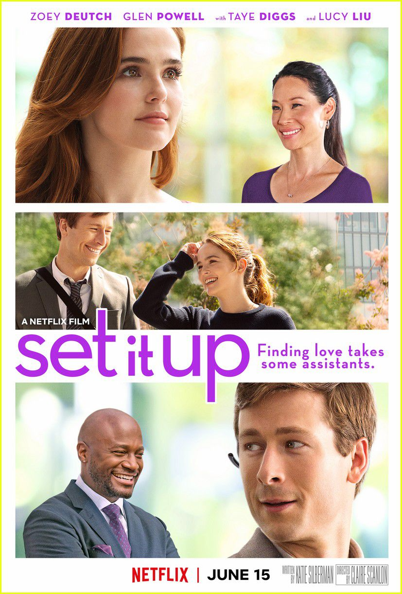Set it up - Cast: Zoey Deutch, Glen Powell - Netlfix film love poster