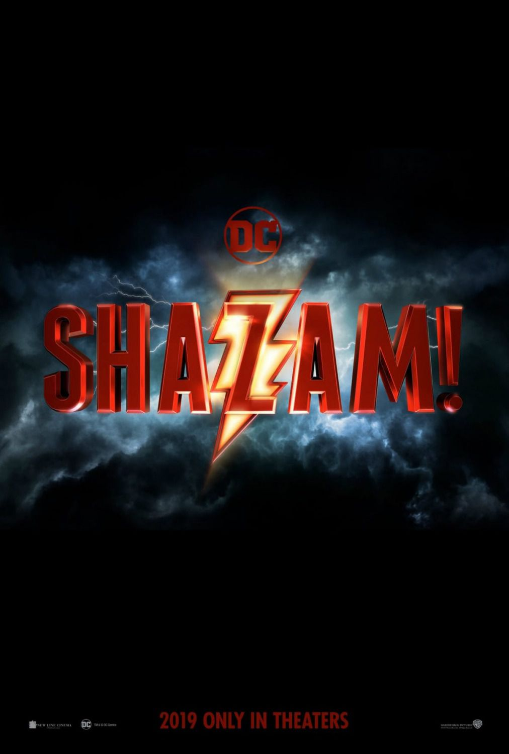 Shazam - super hero DC film poster 2019
