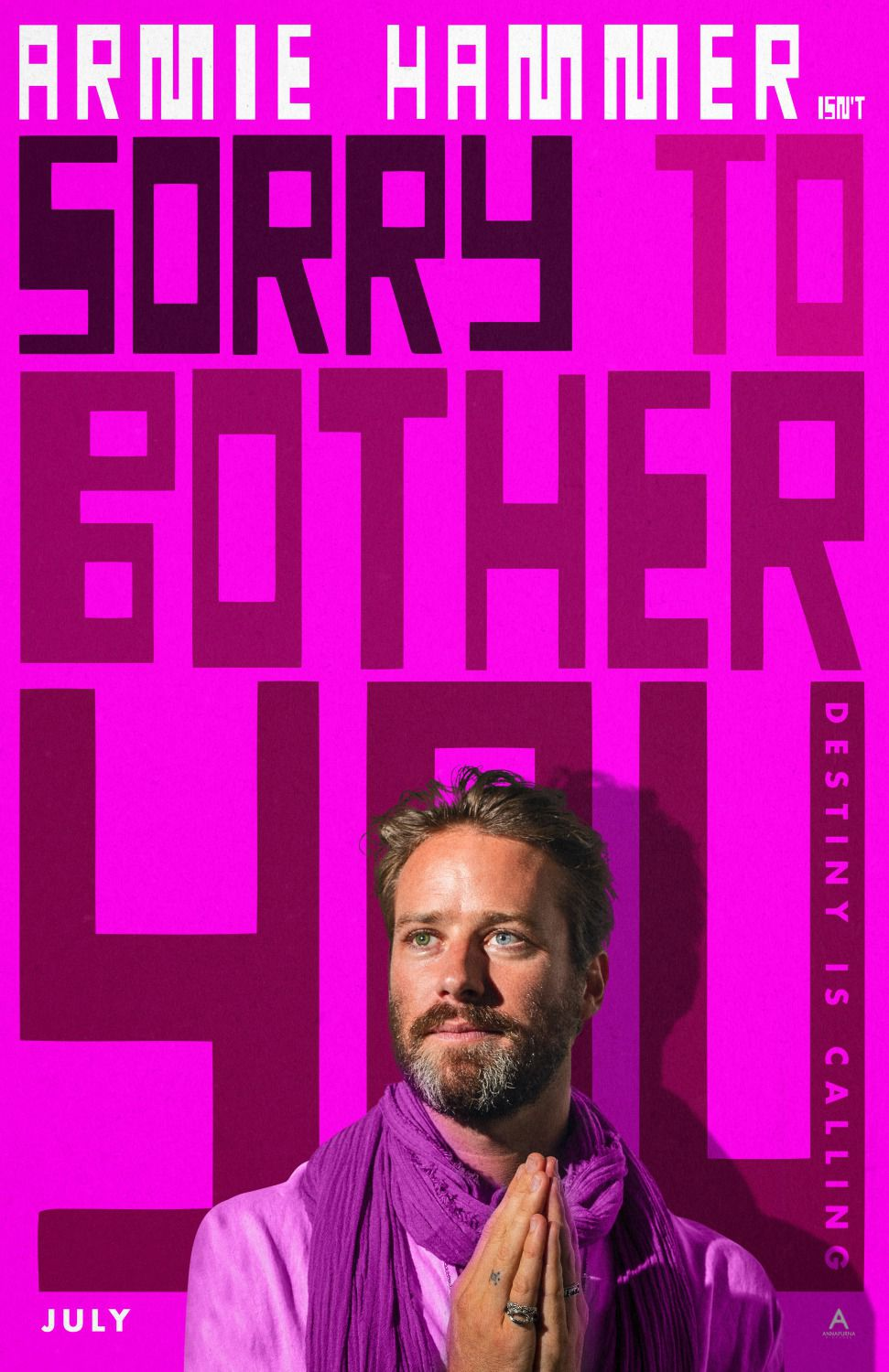 Sorry to Bother You - Armie Hammer - film poster