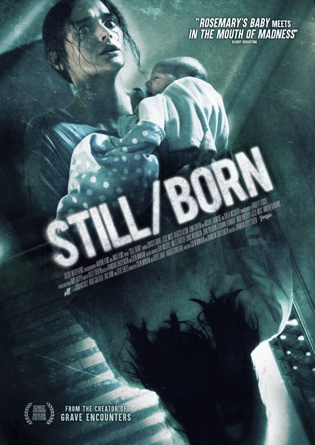 Stillborn - Horror Film poster - Christie Burke, Jesse Moss, Rebecca Olson, Jenn Griffin