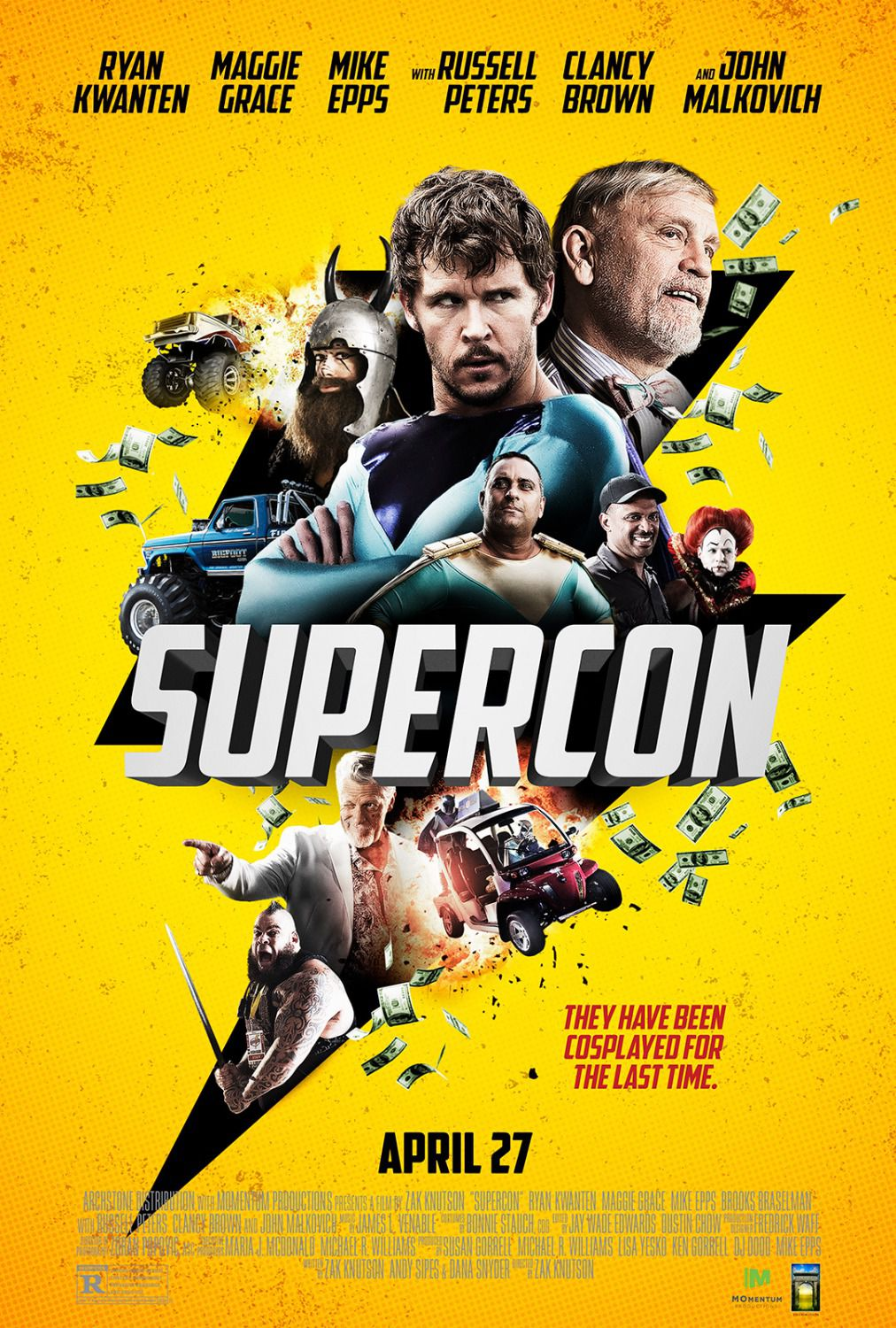 Supercon - have been cosplayed for the last time - comedy film poster 2018