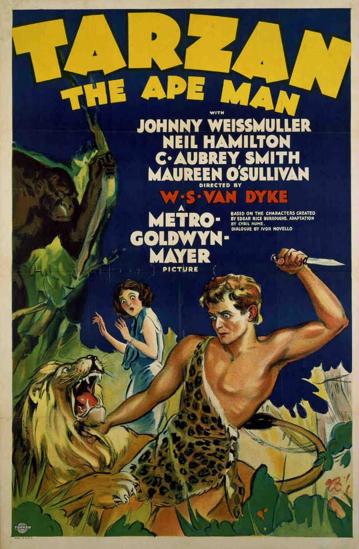 Tarzan the Ape Man 1932 with Aubrey Smith original cult classic poster
