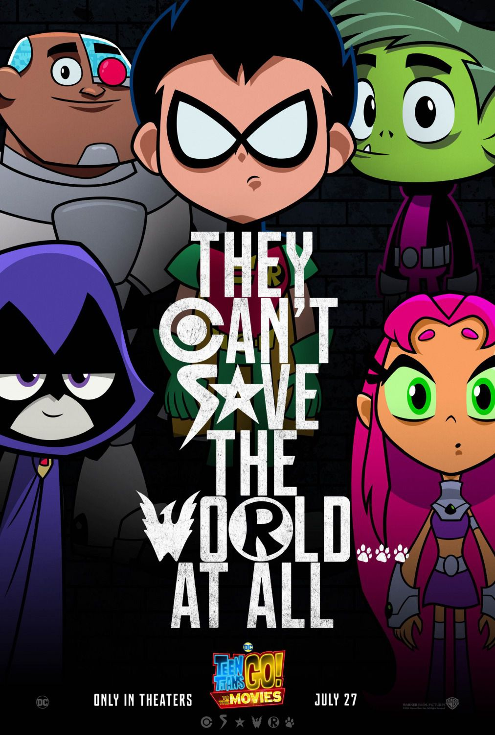 Teen Titans go to the movies - animated film 2018 - poster