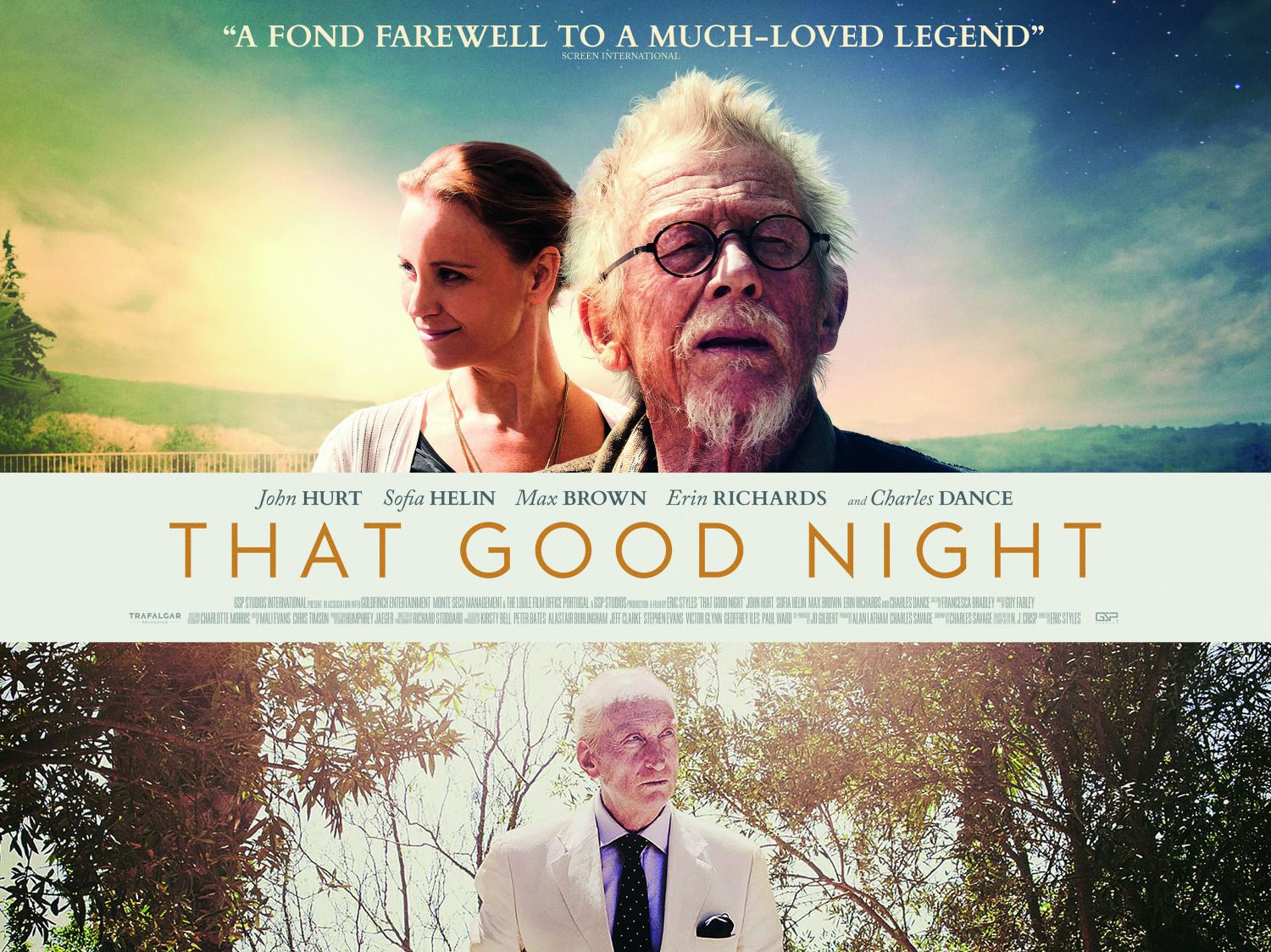 That Good Night - Cast: John Hurt, Sofia Helin, Max Brown, Erin Richards, Charles Dance - film poster