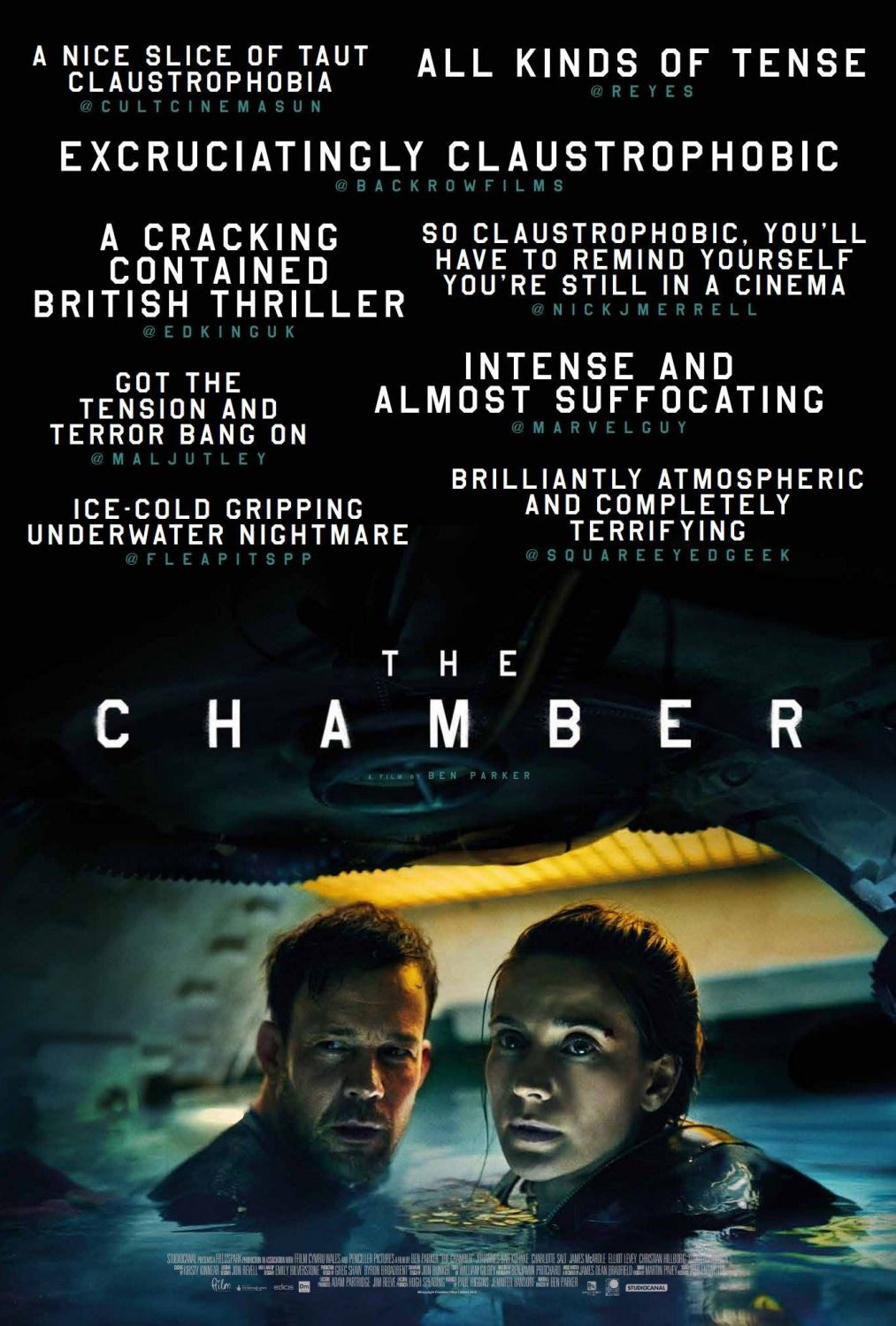 The Chamber by Ben Parker - scary film poster