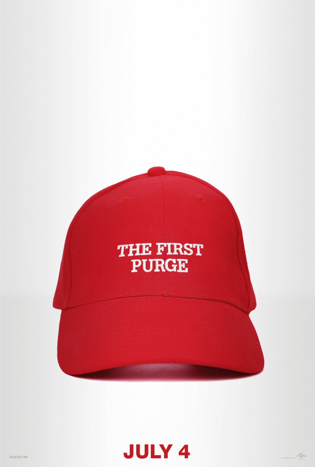 The First Purge - red hat film poster 2018