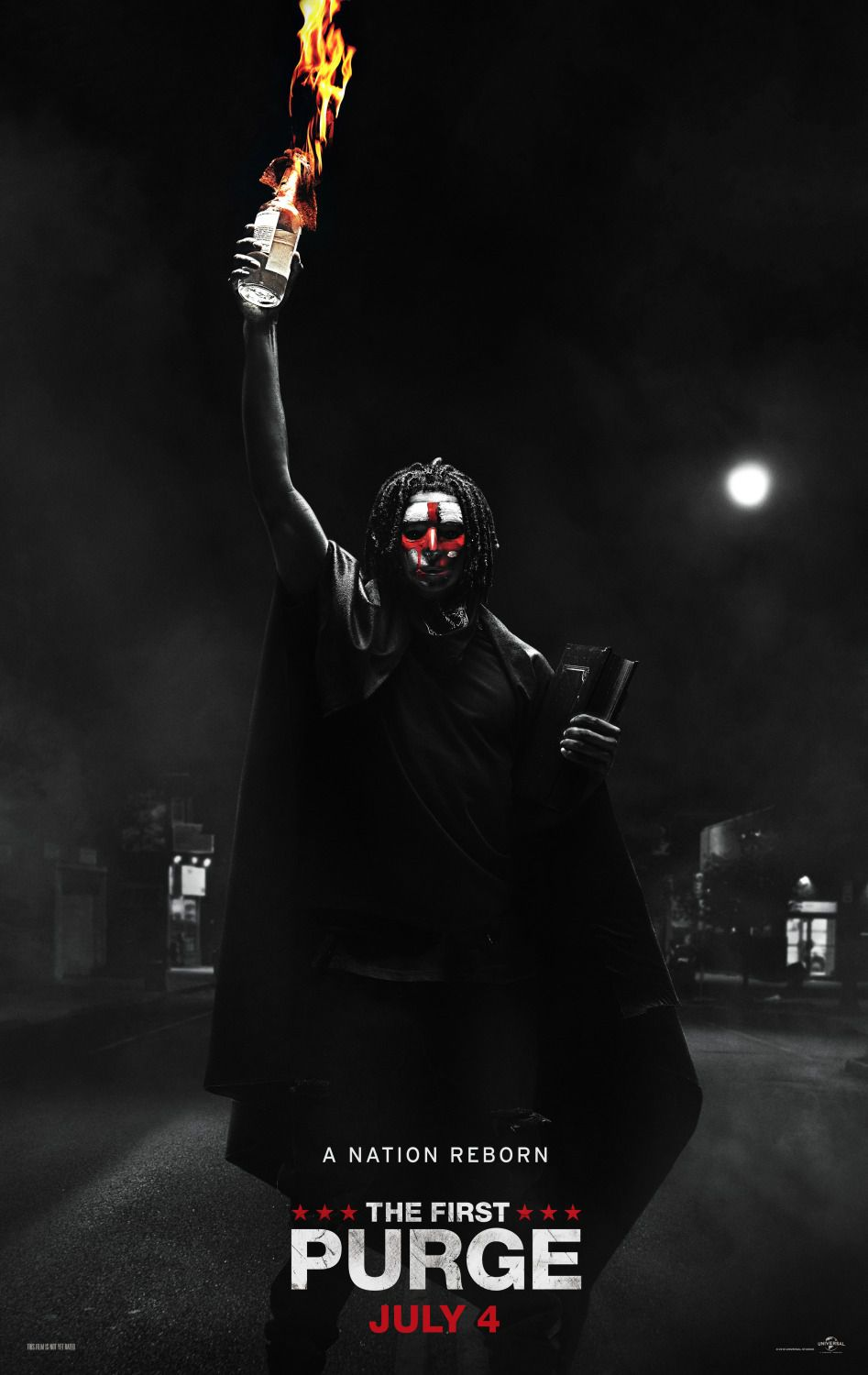 The First Purge - a Nation reborn - Y'lan Noel, Lex Scott Davis, David Breda, Christian Robinson - poster