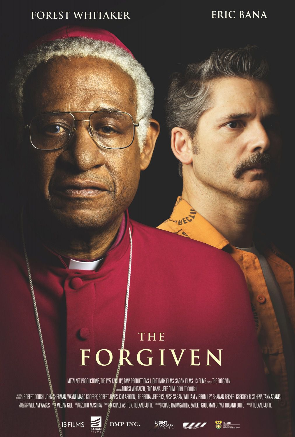 The Forgiven - Racist, Prisoner, Murderer, Child of God - Cast: Forest Whitaker, Eric Bana - film poster 2018