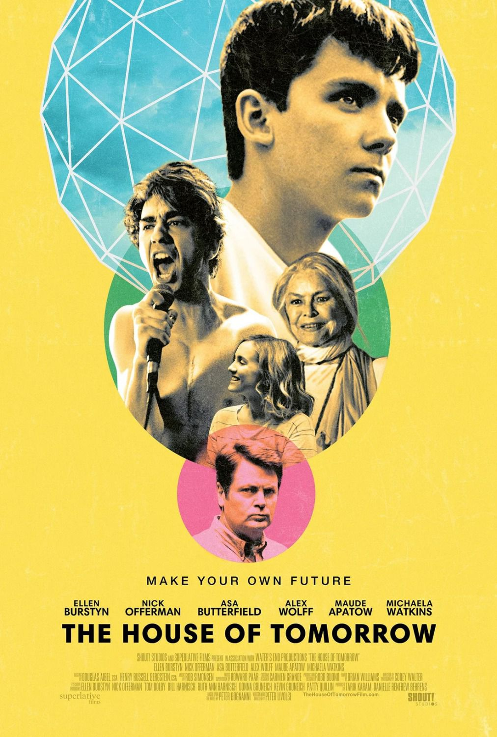 The House of Tomorrow - Cast: Ellen Burstyn, Nick Offerman, Asa Butterfield, Alex Wolff, Maude Apatow, Michaela Watkins - poster