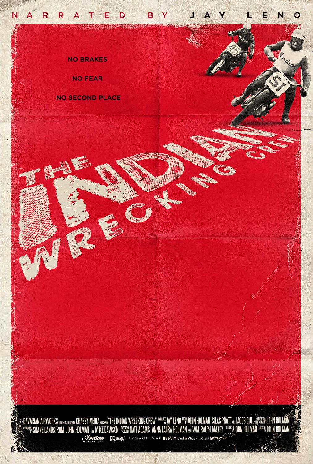 The Indian Wrecking Crew - No brakes, No Fear, No Second Place - Moto Racing film poster