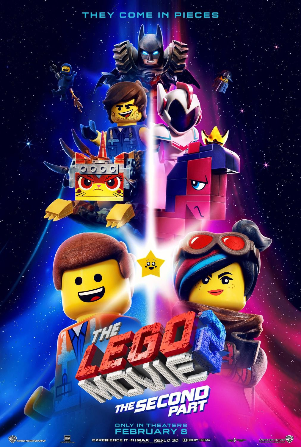 The Lego Movie 2 the Second Part (2019) voices Chris Pratt, Elizabeth Banks, Will Arnett, Tiffany Haddish - poster collection
