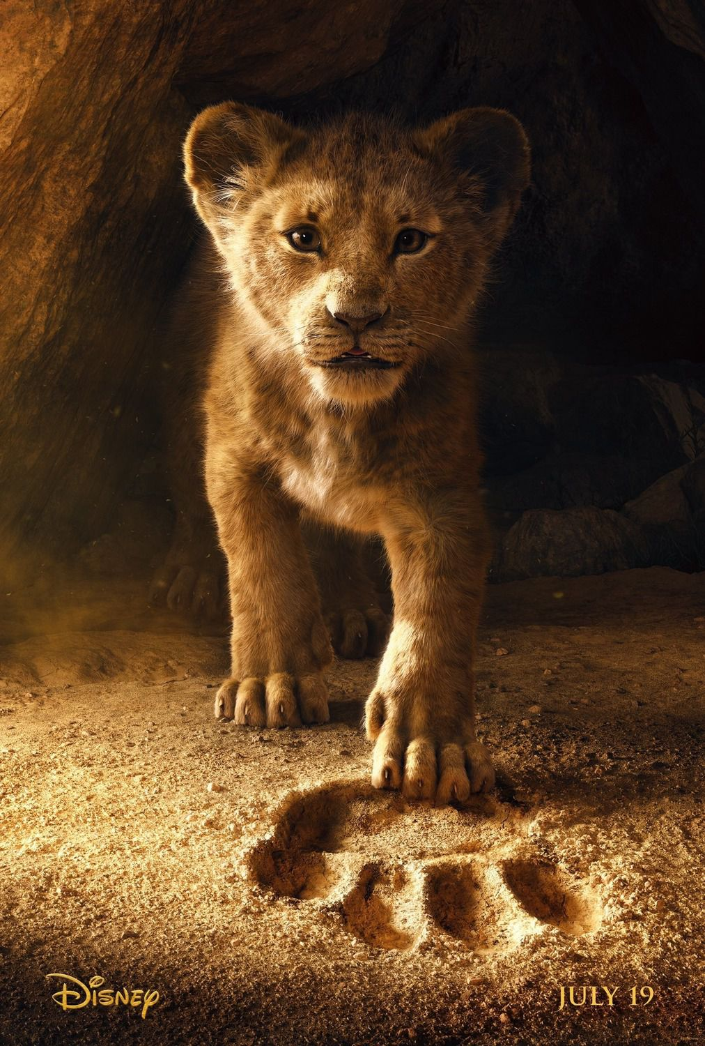 The Lion King 2019 voices Donald Glover, Beyoncé Knowles, James Earl Jones, Chiwetel Ejiofor Disney poster