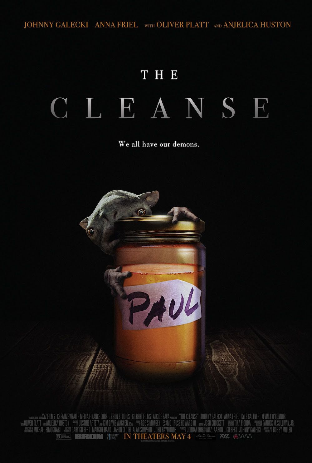 The Master Cleanse - let's get Pure - Cast: Johnny Galecki, Anna Friel, Anjelica Huston, Kyle Gallner, Oliver Platt - film poster 2018