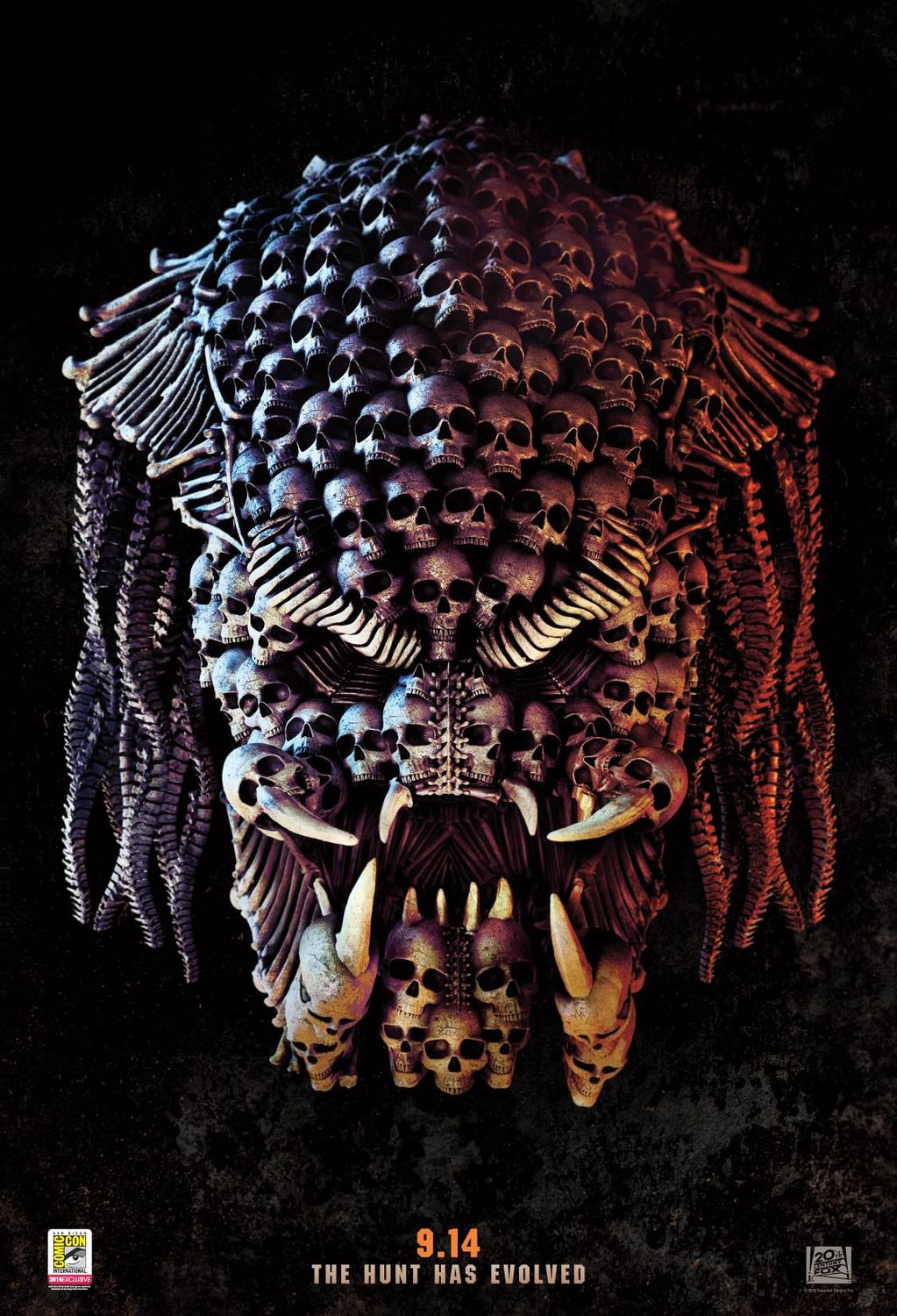 The Predator (2018) - alien face