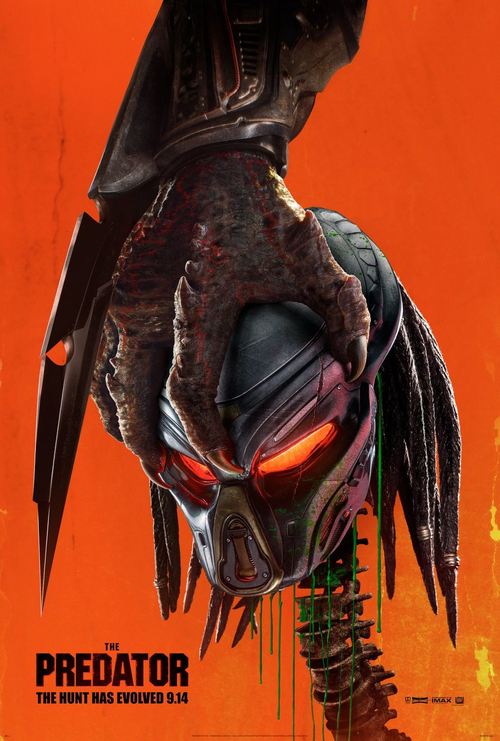 The Predator (2018) - even the alien hunters have their own predator - Cast: Boyd Holbrook, Olivia Munn, Jacob Tremblay, Trevante Rhodes - scifi alien hunter film saga poster