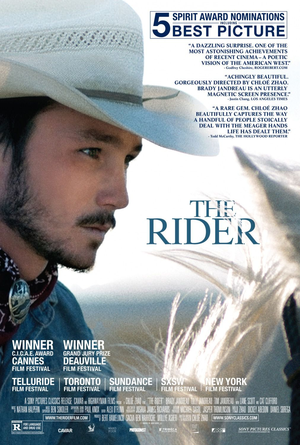 The Rider (2018) - Cast: Brady Lilly and Tim Jandreau, Lane Scott, Cat Clifford - film poster