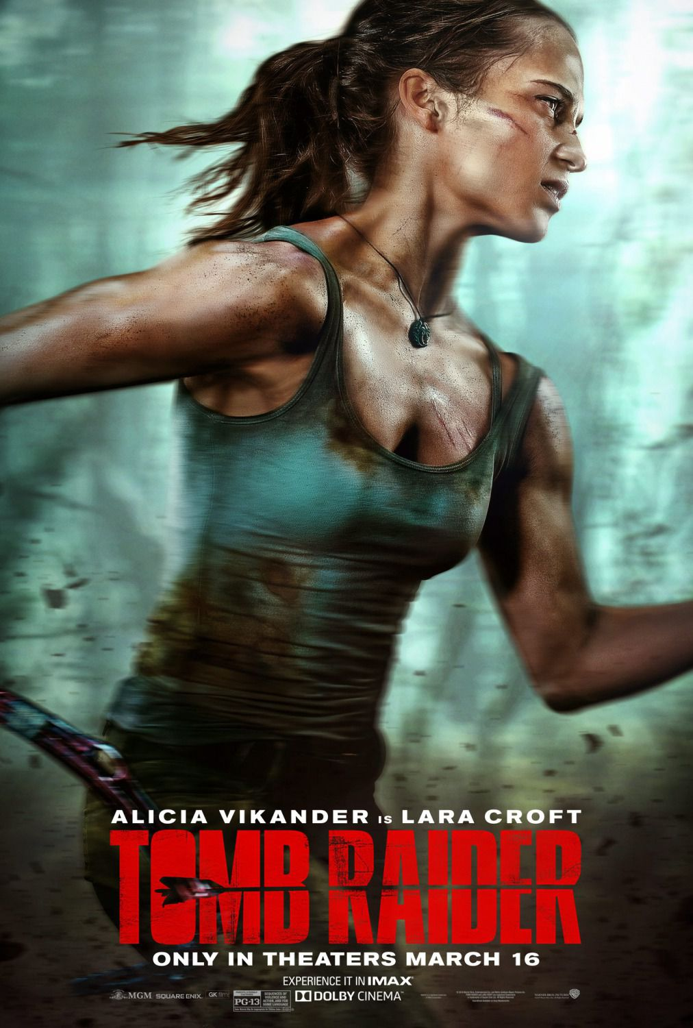Tomb Raider -  live action film 2018 - Alicia Vikander - poster