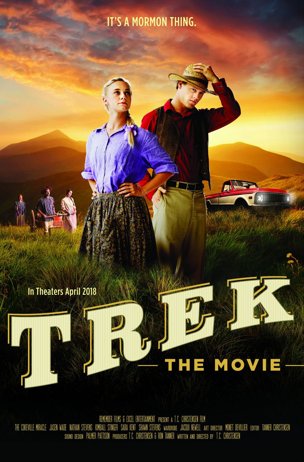Trek the movie - It's a Mormon thing - Cast: Austin Grant, Stefania Barr, Joel Bishop - film poster 2018