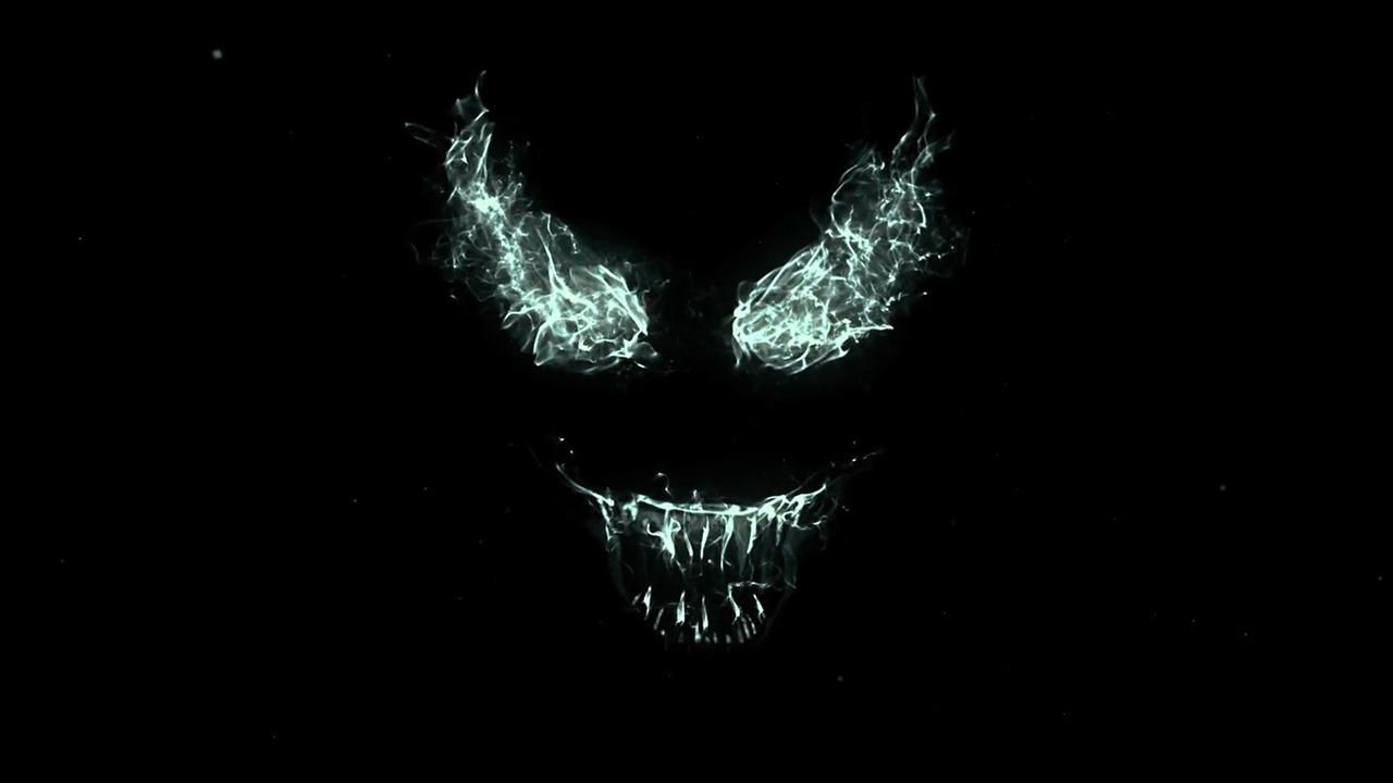 Venom (2018) - cold light fire evil mask face
